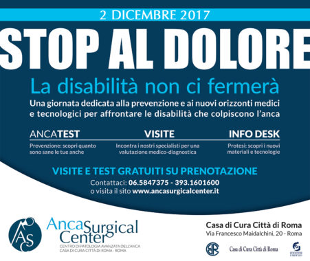 Anca Surgical Center visite gratuite 2 Dicembre