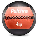 PULCHRA Soft Medicine Ball (8 Colours) Leather Medical Slam Weight Wall Ball Fitness Training Workout Exercise for Better Power Balance Arm Leg Waist Muscles Build 2 3 4 5 6 8 KG Medicine Ball (4)